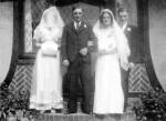 15. ID DIS2009_MAR_030 Herbert Mole and Kathleen Brown are pictured after their marriage at one of the Mill Road chapels in early 1940. Kathleen came from north east England and ...