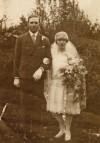 19. ID RG03_205 Wedding of Edna Mehalah Green and Leslie James Green at West Mersea Parish Church 5 November 1927.