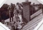 21. ID RG03_221 Topping Out. L-R Ron Pamment, Beverley Green, Ron Green, Bob Deal seated.