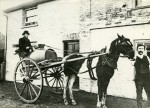 30. ID RG03_353 Abberton Water Cart. Eddie Smith holding the horse. The cart was used to supply water to the village from the well under the bakery. Eddie Smith donated land at ...