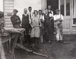 15. ID BOXD_012_001_001 The staff of Gowen & Company sail loft at West Mersea, about 1920. L to R Charlie Woods, A.A. Gowen, Kenneth A.L. Gowen, Miss Gertie French (Mrs Stanley...