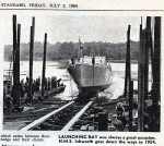 11. ID BOXL_041_001_001 LAUNCHING DAY was always a great occasion. HMS ICKWORTH goes down the ways in 1954. From Essex County Standard 3 July 1964.