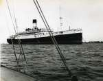 Cruise liner VOLTAIRE laid up in River Blackwater off Bradwell. She was in the river from 1929 to 7 May 1932. 1931.