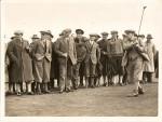 7. ID BS01_015 Brigadier General R. Beale Colvin C.B. the Lord Lieutenant of Essex opening the Golf Course by driving from the 1st tee.