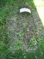 Grave of Sarah Wrench on north side of East Mersea Church, died 6 May 1848, aged 15 years 5 months.