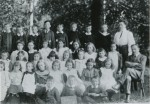 Birch School Group No. 3 1890s. Headmaster Mr Chandler on the right.  ELB_SCH_005