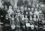 Birch School 1903. Headmaster Mr Chandler on the left.  ELB_SCH_043