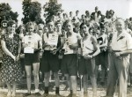 Birch School. Sports Day 1950. Mr Morton on the right - he was a senior master at the school.  ELB_SCH_151