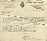 85. ID JMO_FIR_005 Salcott Fire Service in WW2. Letter to Mr P.J. Ponder, Rose Villa, Virley, reference medical examinations by Dr. J. Reid Moir.
