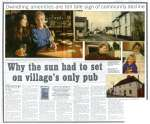 15. ID JMO_SAL_201 Why the sun had to set on village's only pub. Closure of The Sun Inn at Salcott. Article from Evening Gazette, 5 April 1995. 