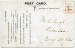 16. ID RG03_642 Back of postcard from Owen Parry Ltd, Oil Mills, Colchester. See ...