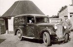 2. ID ALS_C20_019 Frederick Herbert Smith and Herbert Marrow with Fred G. Smith delivery van. It is a Morris, registration BVW367. The door advertises Lyons Cakes. Phone Number...