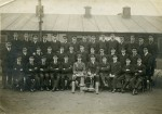 100. ID MMC_P1077F_016_005 Royal Navy group photograph. This is probably the Royal Navy Experimental Station at Stratford in WW1. One of the men is probably John Catt.