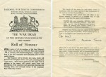 189. ID PBIB_NAV_293 Imperial War Graves Commission Roll of Honour.