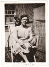 193. ID PBIB_NAV_309 Our Monkey - Jacko the monkey sitting on Edith Mussett's shoulder.