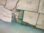 29. ID MMC_P1077A_882 West Mersea Hall estate, property of Thomas May - part of map. White Hart, Churchyard, West Mersea Hall. Land belonging to John King Esq. Garden Field,...