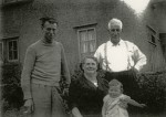 143. ID MST_FAM_095 L-R Gordon Mussett, the Heywoods his wife's parents, and lower, Nick Mussett, son of Gordon and Cath Mussett.