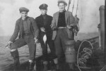 51. ID PBIB_SRG_001 Three Tollesbury men. L-R William Shakespeare, John 'Southerly' Frost, Stephen 'Buggins' Barbrook. The date and the smack are not known.