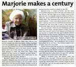 Marjorie makes a century.