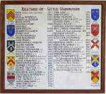 Rectors of Little Wigborough. Framed list on north wall of church, printed by T.B.Millatt.