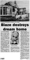 58. ID MST_OPA_405 Blaze destroys dream home. New home for West Mersea's Police Sergeant in Broomhill Road a ruin. Sergeant Terry Hymas [pictured].