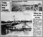 9559. ID RG27_383 The way we were. From Evening Gazette 14 June 1985. Clacton and Dovercourt.