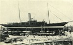 44. ID BF69_001_033_006 Steam Yacht ROSABELLE on slipway. 614 tons (Thames Measurement) [from page 44]. From Aldous catalogue, c1936