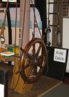 15. ID IA003390 Kids' Corner in Mersea Museum 2006 season. The wheel was loaned by Martin Wade and had been rescued from the sailing barge UNITY by John Milgate. Nelson's Cabin...