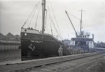29. ID TM580001 Everard's FRIVOLITY at Colchester Gas Works. FRIVOLITY was a war-time standard vessel, 410 gross tons, built 1944 at Goole Shipbuilding as EMPIRE FASHION,...