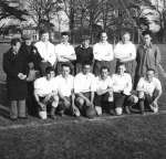 10. ID PH02_193 Peldon Football Club taken at Birch in the early '50s. Three Polish players were living in the Hostel, Wigborough Road, that had housed POWs and the Women's ...