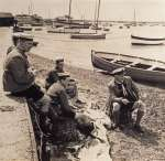 105. ID IA01_881 Sea Scouts on the Mersea foreshore. The late Hugh Markham.