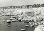 West Mersea beach with the ice piled up in the hard winter of 1962-63. January 1963.