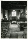 St. Mary's Church, Salcott. The church still has oil lamps. Photo thought to be between 1935 and 1960.  IA003720
