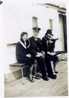 102. ID HAY_PUF_082 Muriel Pullen, Captain Anderson & Tora. The ship is unidentified.