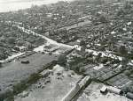 71. ID JBA_414 Jack Botham aerial photograph 3608. Digby's Corner, Griffon Garage. High Street across the centre. Looking south west. Reymead Close was built on the land lower ...