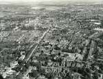 56. ID JBA_852 Jack Botham aerial photograph 3701. Colchester - Lexden Road looking towards town centre. Grammar School is in centre of lower half of picture.