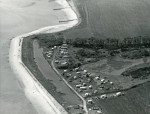 Jack Botham aerial photograph 3205. Decoy Point. Early days at Waldegraves Caravan site. c1962. Photo: Botham Aerial Views